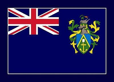 Pitcairn Island Flag New Postcard