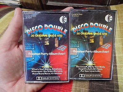 DISCO DOUBLE_30 ORIGINAL DISCO HITS_Compilation_used cassette_ships from AUS!_A1