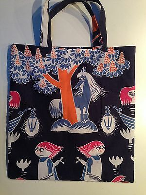 Christmas gift with pocket oil cloth Finland Finlayson Blue Moomin Baby Bib