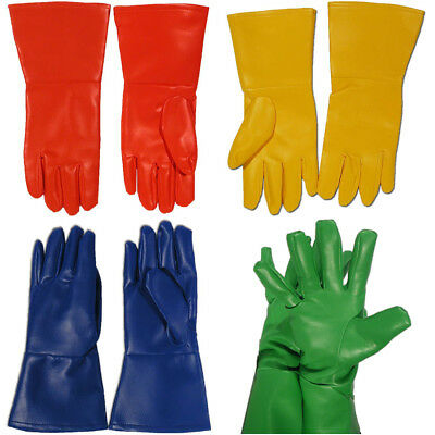 Superhero Gloves (Choose Your Color) PVC Oversized Red Yellow Green Blue Costume