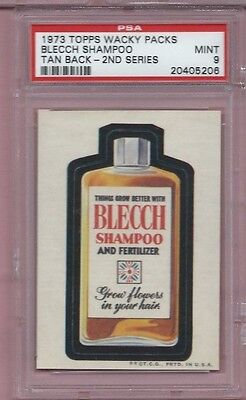 Wacky Packages Series 2 Blecch Shampoo Psa 9 Mint