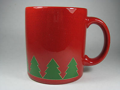 Waechtersbach Red Mug With Green Trees Excellent Condition