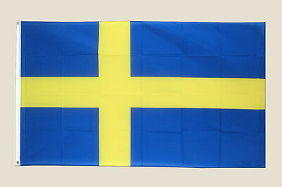 Sweden Flag 3' x 5' Blue Yellow Swedish Polyester 2 Brass Grommets Country New