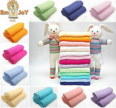 3 Pack Cotton Large Muslin Squares 80x70cm Baby Cloth Reusable Nappy Bibs Wipes