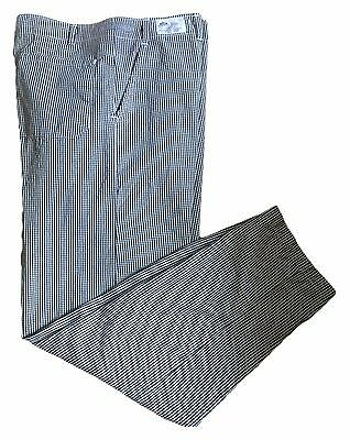 Best Textile Men's Checkered Zipper and Snap Top Closure Work Uniform Chef Pants