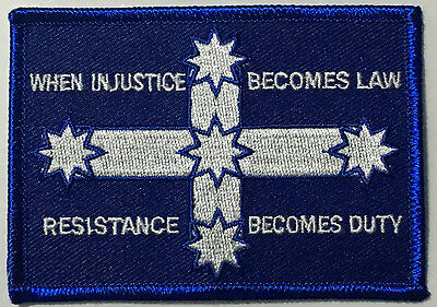 When injustice becomes law resistance becomes duty  cloth patch.     D040803