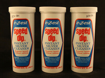 SILVER CLEANER - E-Z-EST - Speed Dip - 10 Oz. Bottle - 3 TOTAL