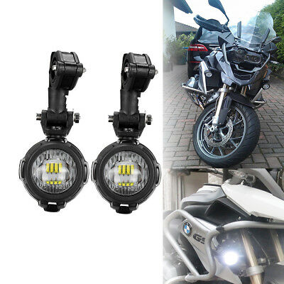 2X LED Auxiliary Fog Lights Assemblie Spot Driving Lamp 40W For BMW Motorcycle