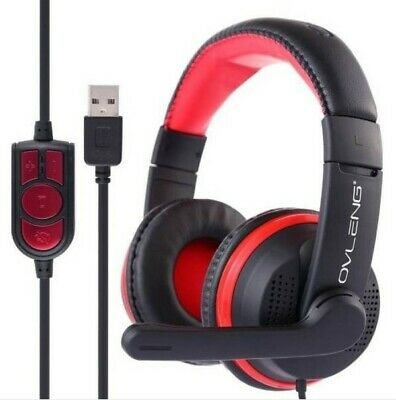 OVLENG Q10 USB Stereo PC Gaming Headset Headphones for world of warcraft NEW