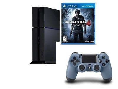 Sony PlayStation 4 Latest PS4 500GB Jet Black UNCHARTED 4: A Thief's End Bundle