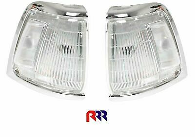 Toyota Hilux Rn85 2Wd 10/88-10/97 Corner Light Chrome Rim - Pair