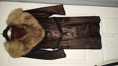 Vintage Cornelius Original Real Fur Coat size 10-12
