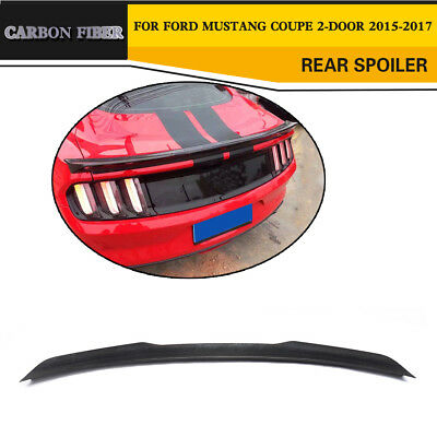 Carbon Fiber Rear Trunk Boot Spoiler Wing Fit for for Ford Mustang GTCoupe 15-16