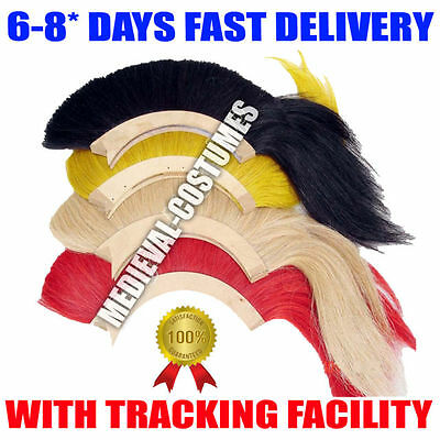 HALLOWEEN GIFTS BLACK,RED,WHITE AND YELLOW PLUME FOR GREEK CORINTHIAN HELMET z7