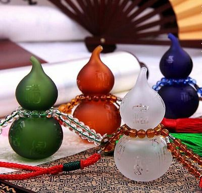 Car Accessories Hang Decoration Crystal Gourd with Perfume  Bottle