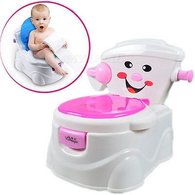 Child Toddler Baby Kids Toilet Potty Trainer Urinal Seat Chair Training Bathroom