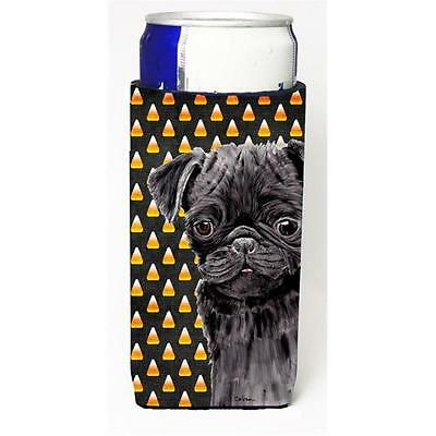 Pug Candy Corn Halloween Portrait Michelob Ultra s For Slim Cans 12 oz.