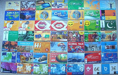 Greece lot of 92 collectible prepaid calling cards, top-up cards & chronocards