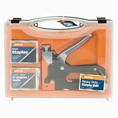 3 in 1 HEAVY DUTY Nail Gun Staple Gun Tack Gun With 2 box U staples/Nails D.I.Y