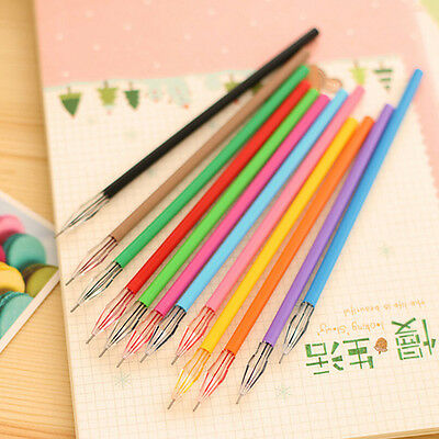 New 12pcs/set Diamond Head Gel Ink Pen Refills For Sketching Drawing Writing