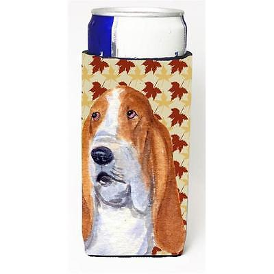 Bulldog English Fall Leaves Portrait Michelob Ultra s For Slim Cans 12 oz.
