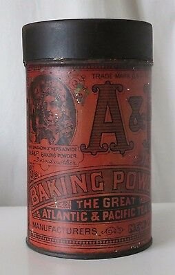 A&p Baking Powder Vintage Tin, The Great Atlantic & Pacific Tea Co. New York
