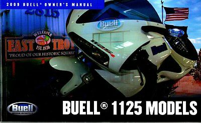 Buell - 1125 2009 Owners Manual - Brand New  - Service History Record Book