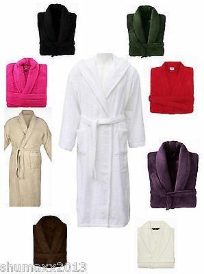Bathrobe for Mens Ladies 100% Egyption Cotton Terry Towelling Dressing Gown