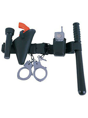 Child Police Officer Belt Kit Costume Accessory Set Play Cop Kids Boys Youth New
