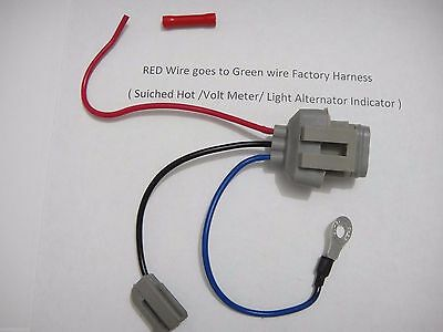 Ford 3G Alternator Conversion Harness Connector 1 ford mustang 3g alternator upgrade conversion wiring harness  at n-0.co