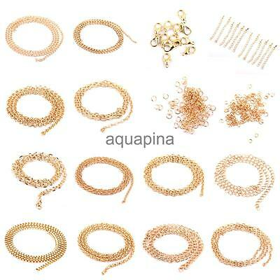 Jump Rings Chain Lobster Clasp Necklace Extender Tail Kit Jewelry Findings