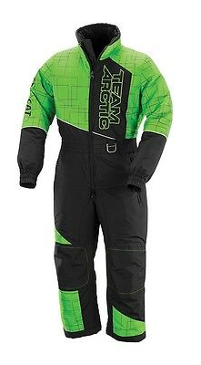 Arctic Cat Youth Team Arctic One Piece Snowmobile Suit - Green / Black 5260-39*