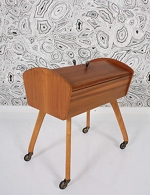 50s 60s SEWING BOX blondwood coffrets à ouvrage a 50  a50 50er NÄHKÄSTCHEN
