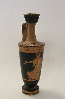 Ancient Greek Black Figure Restored Pottery Lekythos ca. 490 BC