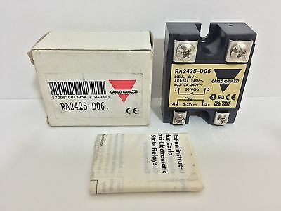 New! Carlo Gavazzi Solid State Relay Ra2425-D06 Ra2425D06