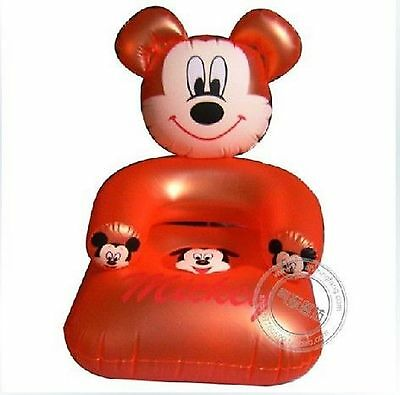 Mickey Mouse ~ Child's Inflatable Chair ~ Orange ~ 50x50x53cm ~ PVC ~ Brand New