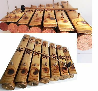 Bamboo 7 Key Gamelan Traditional Balinese Musical Instrument Xylophone Bali 35Cm