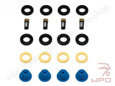 For Porsche 924S 944 2.5 968 fuel injectors seal o-ring rings gasket kit +Filtre