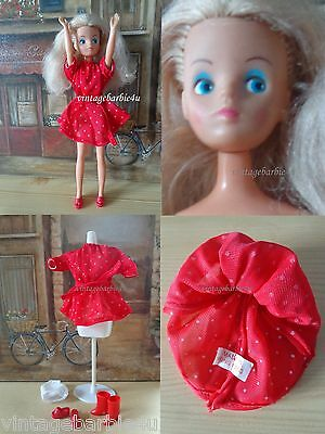 Vintage Mary Quant Daisy Doll Platinum TNT in Dotty Dress #65005 Tag Hong Kong