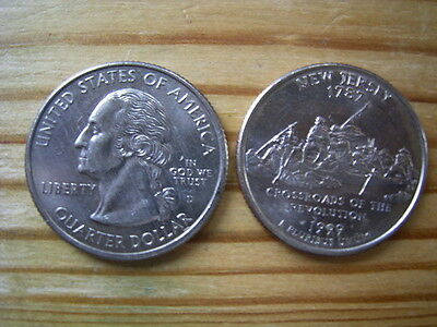 """1999d  usa state  quarter """" new jersey """" dollar coin collectable"""