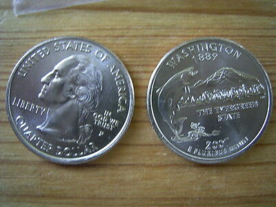 "2007p  usa state  quarter  "" washington "" dollar coin collectable"