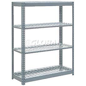 "Heavy Duty Shelving 48""W x 18""D x 72""H With 4 Shelves, Wire Deck"