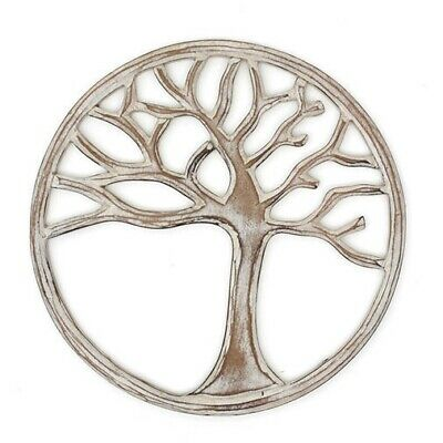 Beautiful Hand Made White Tree of Life Wall Plaque