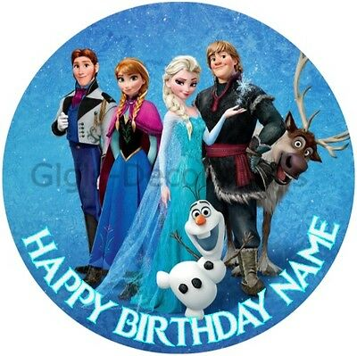 Frozen Elsa Personalised Edible Birthday Party Cake Decoration Topper Image