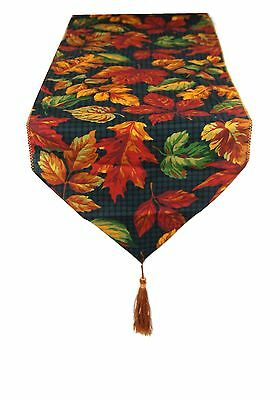 Red & Bronze Large Autuim Leaves Table runner By Temptations of Stoke on Trent