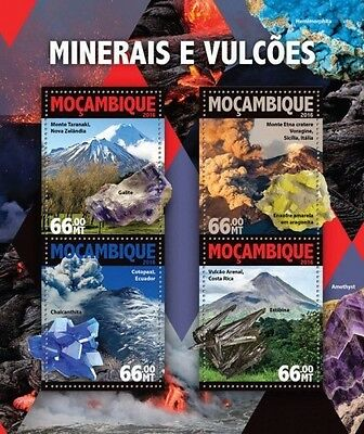 Z08 MOZ16101a MOZAMBIQUE 2016 Minerals and volcanoes MNH