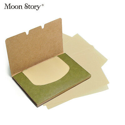 100 Facial Oil Control Sheets Absorption Tissue Face Blotting Paper Grease Skin