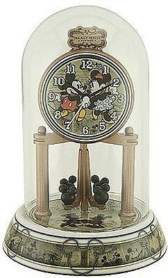 NEW Disney Mickey and Minnie Anniversary Glass Dome Clock - DS20777