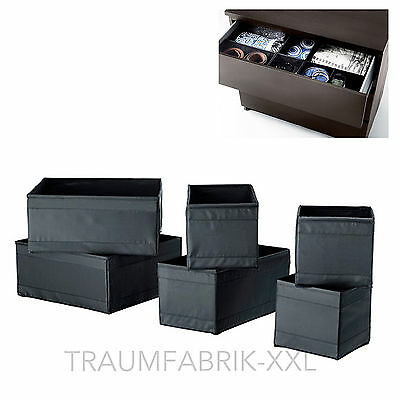 ikea skubb kleidungsbox 6er set wei aufbewahrung schachtel boxen kisten box neu eur 11 90. Black Bedroom Furniture Sets. Home Design Ideas
