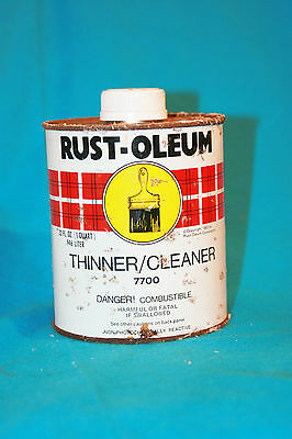 Vintage Rust-Oleum Thinner/cleaner 7700 - 1983 - Empty